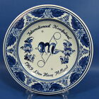 "f377: Singing CHOIR BIRDS on a 9¼"" delft blue WALL PLATE by Velsen"
