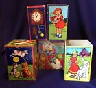 Antique Nesting Stacking Children's Toy Nursery Rhyme Boxes Blocks