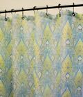 PARK B. SMITH AWESOME PAISLEY SHOWER CURTAIN AQUA SEAFOAM LIME YELLOW NEW