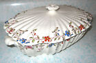 1930's Copeland Spode Wicker Dale Covered Serving Vegetable Bowl Oval England