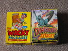 1989 O Pee Chee Yellow Wacky Packages & Topps Dinosaurs Attack! Store Box Lot