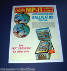 NIP IT By BALLY 1973 ORIGINAL EM CLASSIC PINBALL MACHINE SALES FLYER BROCHURE