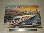 1980s Popular Mechanics THE HISTORY OF LOCOMOTION Paper Poster 24
