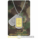 2.5 Gram Bullion Exchanges SUPPORT OUR TROOPS .9999 Gold IGR Bar