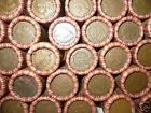 MIXED WHEAT INDIAN PENNY SHOTGUN ROLL WITH INDIAN HEAD CENT END! 50 COINS LOT F1