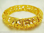 CARVE 22K 23K 24K THAI BAHT YELLOW  GOLD GP JEWELRY  BANGLE BRACELET BA09