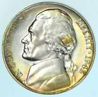 Rainbow Toned Uncirculated 1945-P Jefferson War Nickel BU 35% Silver Coin #A889