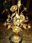 Hollywood Regency Victorian Lamp Italian Marble Metal ToleWare Funky Glamour ERA
