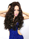 Deep Brown Full-Volume Curls Lovely Fashion Long Wig