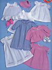 SEWING PATTERN Vintage 1948 Style Baby Layette Clothes Bonnet Booties Coat Dress