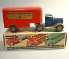 Triang Minic Tractor Trailer Tinplate Clockwork 1951 LBL Boxed blue cab