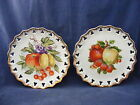 2 Vintage Lace Edge Still Life Decorator Plates 8.25