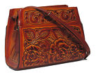 Border Leather Sonoma Handbag - Hand Tooled Leather - Flowers Design