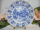 Alfred Meakin Staffordshire blue Transferware Calendar plate God bless our house