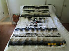 Authentic  Mexican Saltillo SerapeThrow Blanket wool Rug Wall-Hanging .6 ft-3 ft