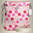 NEW COACH Floral POPPY Swingpack Crossbody Bag Handbag F51105 Pink Flowers Heart