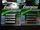 8 Energizer Rechargeable AAA Batteries, NEW, Power Plus 700 mAh, NR Save $ Now