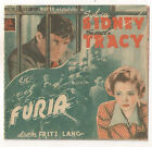 FURY FRITZ LANG SPENCER TRACY SYLVIA SIDNEY SPANISH Double HERALD MINI POSTER