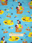 Timeless Treasures Pirate Ship Island Cannon Jolly Roger 1352 Cotton Fabric YARD