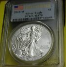 2013 - WESTPOINT - PCGS MS70 - Uncirculated Silver Eagle  BURNISHED!!! -$1