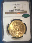 1911-D $20 GOLD * NGC MS65 * CAC * ST GAUDENS Double EAGLE * Gorgeous BRIGHT GEM