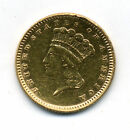 Genuine 1861 One Dollar Gold Indian Princess Coin.