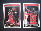 1988-89 Fleer Basketball-132 Card Complete Set and 11 Card Sticker Set