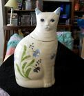 NS Gustin White CAT COOKIE JAR 14