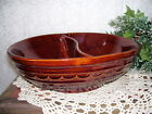 BROWN STONEWARE DIVIDED DISH OVEN PROOF MARCREST USA