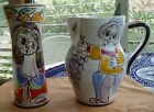2 Midcentury Modern Picasso Style DeSimone 65 Italy Art Pottery 8
