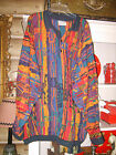 Vtg COOGI Australia Mercerised Cotton 3D Wave Multi-Color COSBY Sweater Sz 2XL