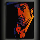Bob Dylan 3D Mixed Media Pop Art Portrait Metal Wall Art Steel Sculpture Purple
