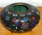 ANTIQUE  18TH CENTURY JAPANESE CLOISONNE BOWL VERY FINE FOOTED RARE BOWL,NICE!!!