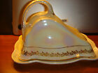 Victorian Dixonian Porcelain Pearl Luster Covered Cheese Dish 1910