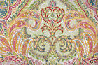 CYNTHIA ROWLEY QUEEN PAISLEY MEDALLION TEAL RED GREEN ORANGE 6 PC COMFORTER SET