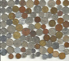World Coin lot of 100+ mixed coins w/ silver (2) coins + Bimetallic + +