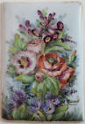 Antique French Hand Painted Floral Porcelain Tile Plaque Signed by H.Gaud #3
