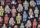 Quilt Fabric RJR Where The Toys Are Robots FREE SHIPPING