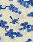Quilt Fabric Fabri Quilt Porcelain Blue Birds and Branches Asian FREE SHIPPING!