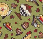 Quilt Fabric SSI Chefs International Food Pie Cake Ice Cream FREE SHIPPING!!