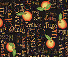 Quilt Fabric Food Studio E Gertie's Grove Black Oranges Tangy    FREE SHIPPING!!