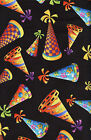 Quilt Fabric Timeless Treasures Celebration Birthday Party Hats FREE SHIPPING!!