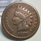 1877 INDIAN HEAD CENT 1c **VF** US COIN