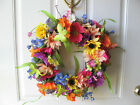 Floral Door-Wall Wreath Forever Summer Table Centerpiece Candle Flowers Décor