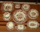 Dinner Service for Six.  Spode Marina Brown Royal Jasmine.  Brown Transfer