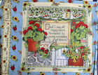 Susan Winget fabric panel pillow block garden set four scenes gardening  16