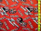 STAR TREK SPACE SHIPS ON RED FLANNEL 100% COTTON FABRIC BY THE 1/2 YARD
