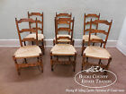Mantovanelli Set of 6 Rush Seat Ladder Back Italian Made Dining Chairs