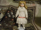 Porcelain Doll w/Stand Collectable Doll Blonde Blue Eyes Pink Bow
