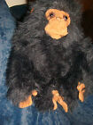PLUSH MONKEY BABY CHIMPANZEE~STUFFED ANIMAL~CUTE LOVEY FUZZY~APE GORILLA PRIMATE
